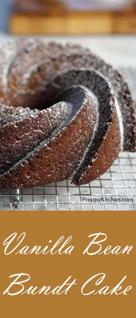 There are few things as easy to make but impressive to behold as a bundt cake. Super-quick and forgiving this delicious recipe makes for a delicious treat you can bring to a friend's house or indulge in on your own. I finished mine with a light dusting of powdered sugar because I like to have a slice with my coffee in the morning and I only have icing for breakfast on my birthday. @PreppyKitchen