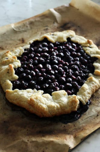 A photo of a Blueberry Galette fresh out of the oven.