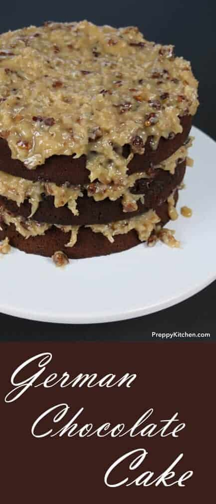 German Chocolate Cake is named after Samuel German, the inventor of a type of dark chocolate (not the country). It's also one of my FAVORITES! Once you make the icing you'll be adding it to cupcakes and ice cream in no time. @PreppyKitchen