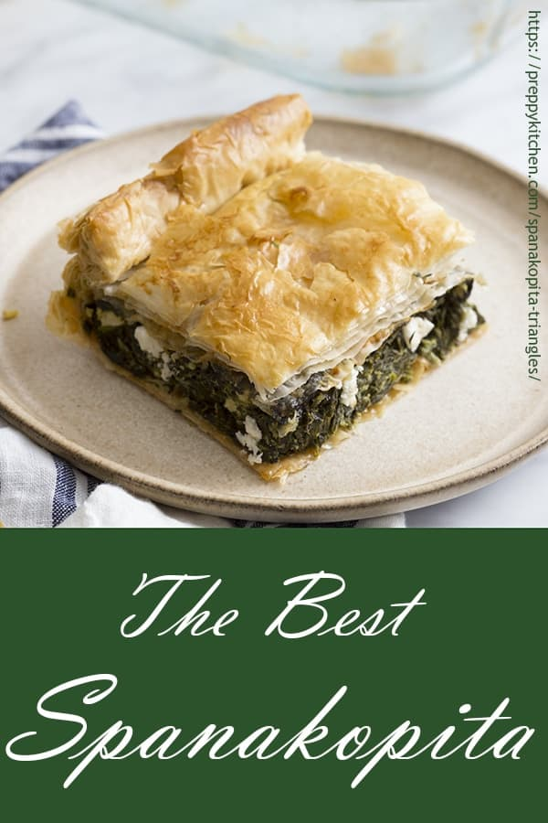 A photo showing a piece of spanakopita