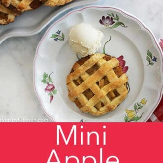 mini apple pie on a plate