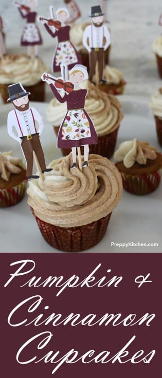 The holiday seasons means lots of... PUMPKIN! Yummy and delicious, these cupcakes are ABSOLUTELY phenomenal. Add some cinnamon vanilla frosting on top and you've got a winner. @PreppyKitchen