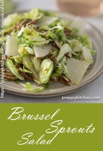 A clipping of a shaved Brussel Sprouts salad.