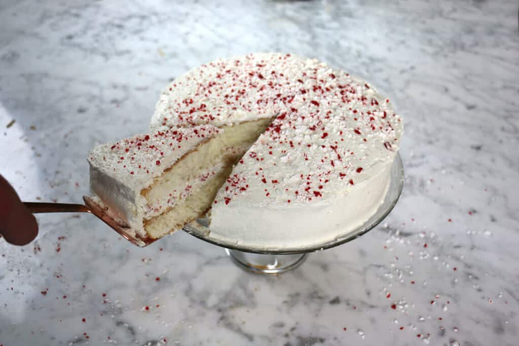 Peppermint Buttercream Cake