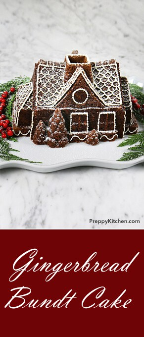 Christmas cheer than the smell of gingerbread filling the house? I don't know! This recipe was so rich and delicious that I can't wait to make another. So stop everything and make this cake! @PreppyKitchen