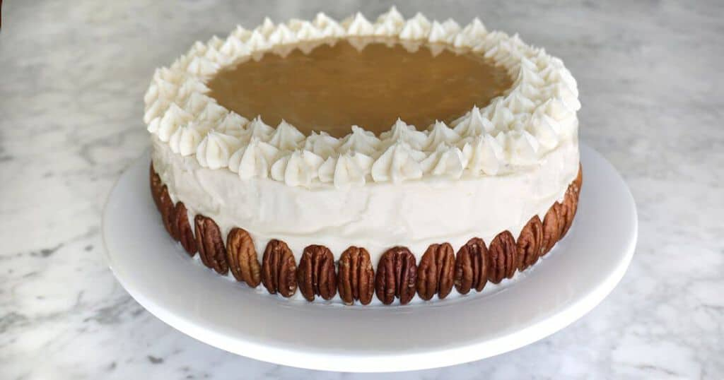 Maple Cake with Bourbon Frosting