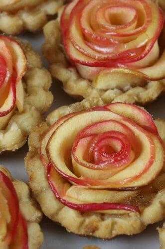 A photo of Rose Apple Mini Tarts