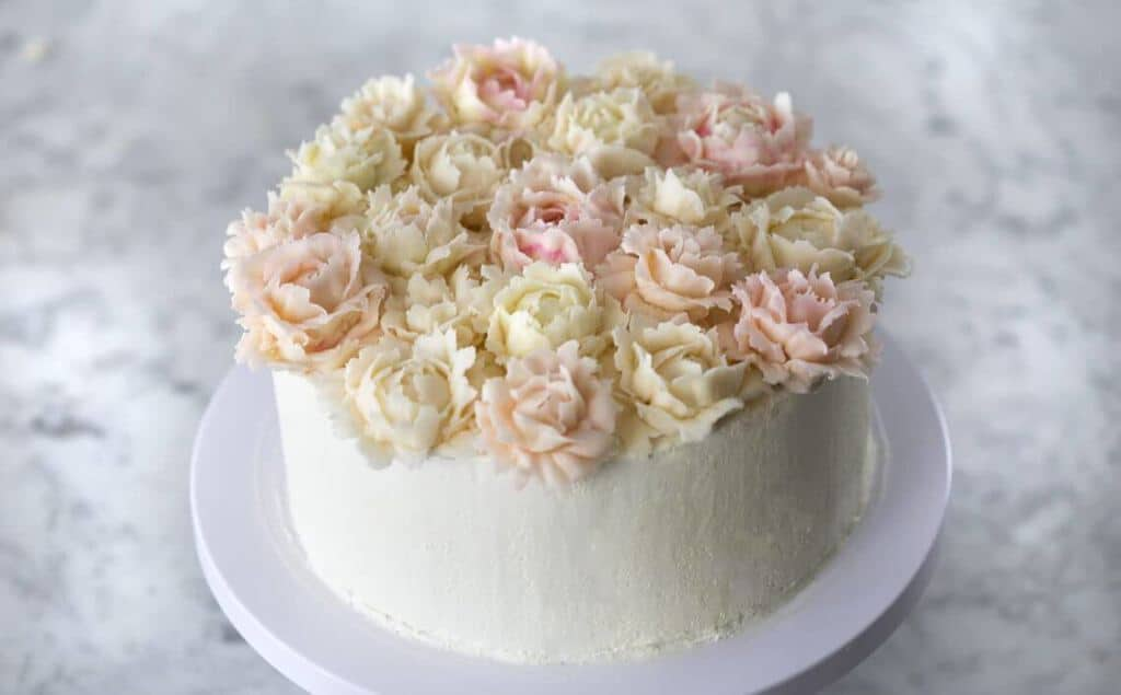 A Brown Butter Cake with Italian Buttercream.
