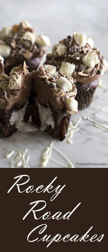 This might be my favorite cupcake yet. It has everything, including a gooey marshmallow center! It's decadent, sugary Heaven. Unbelievable. @PreppyKitchen