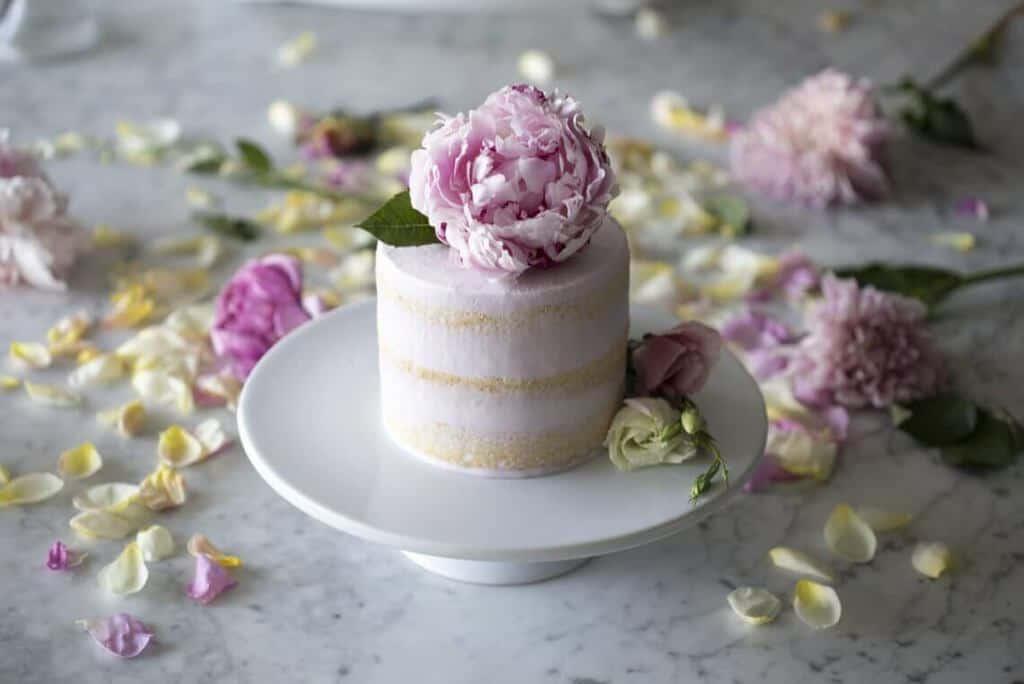 Peony Vanilla Cake