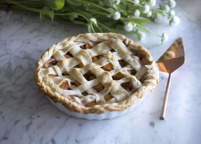 Peach and Cherry Pie