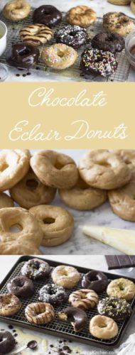 Chocolate Eclair Donuts