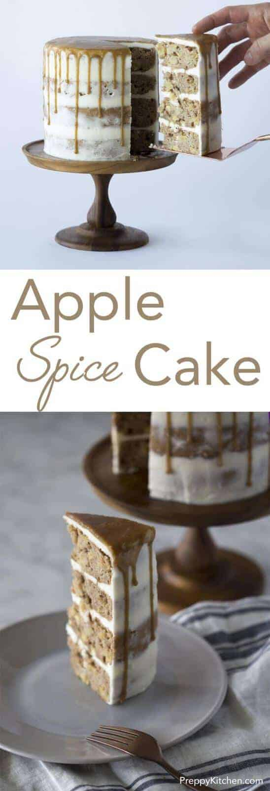 Perfect for Autumn, this delicious caramel apple spice cake is packed with apples, Fall spices and caramel. Click over for full recipe andante video!