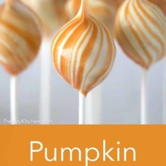 orange and white pumpkin cake pop