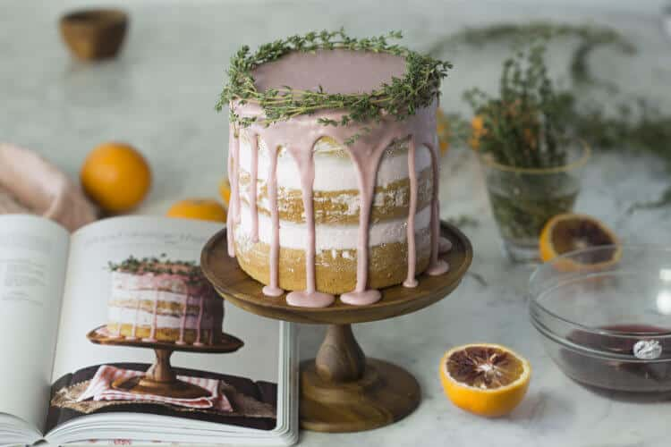 Tessa Huff's Blood Orange Thyme Cake