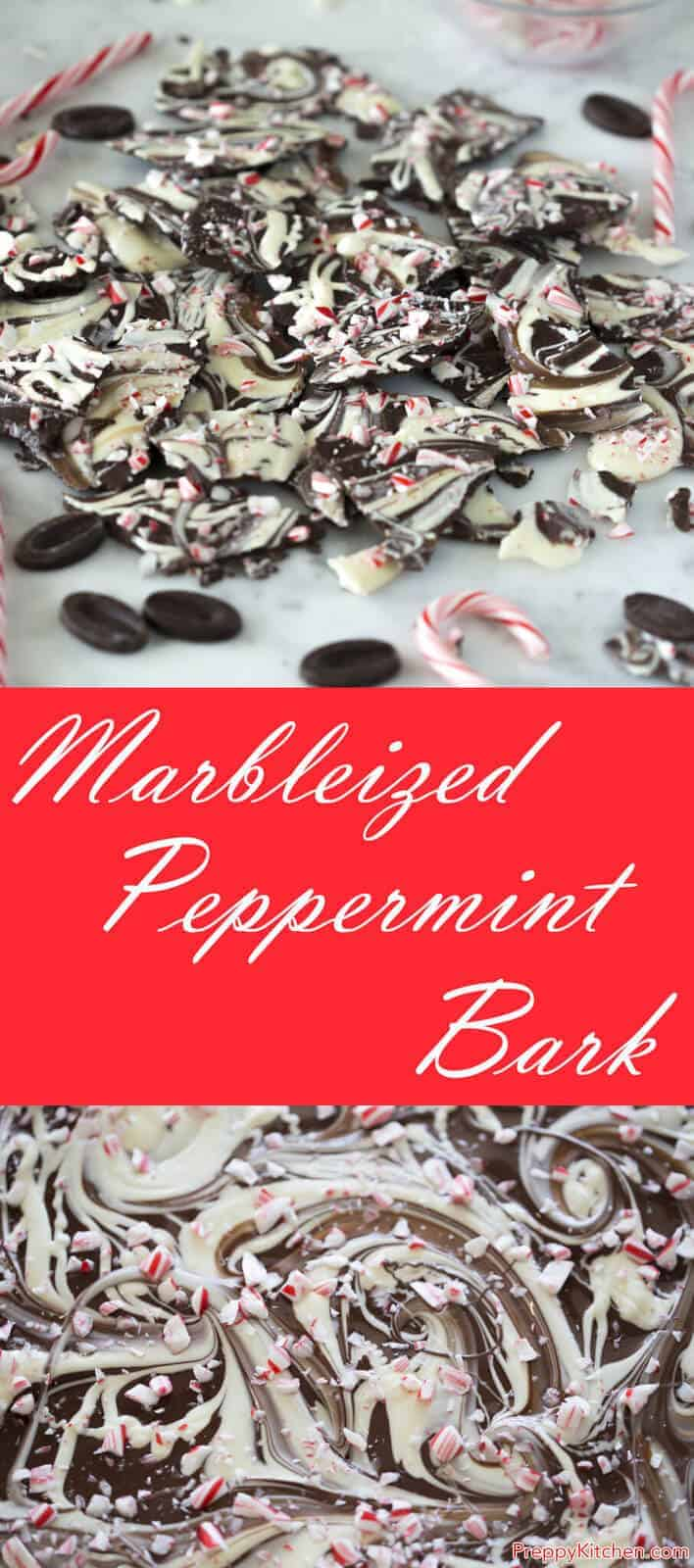 Dark chocolate, white chocolate, peppermint and crushed candy canes. A fast treat that's almost too easy to be true.