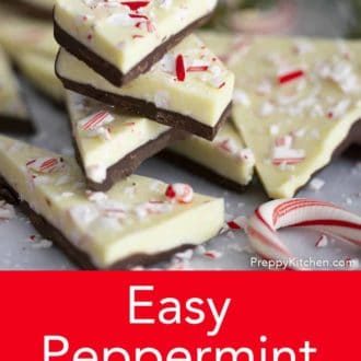 stack of peppermint bark