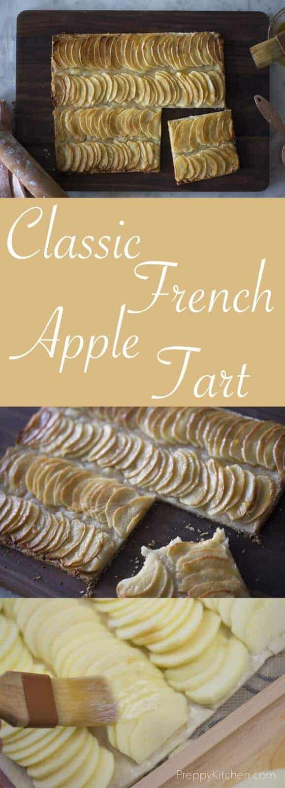 A classic french apple tart really highlights the natural flavor of fresh apples and is so easy to make. Full recipe on the blog.