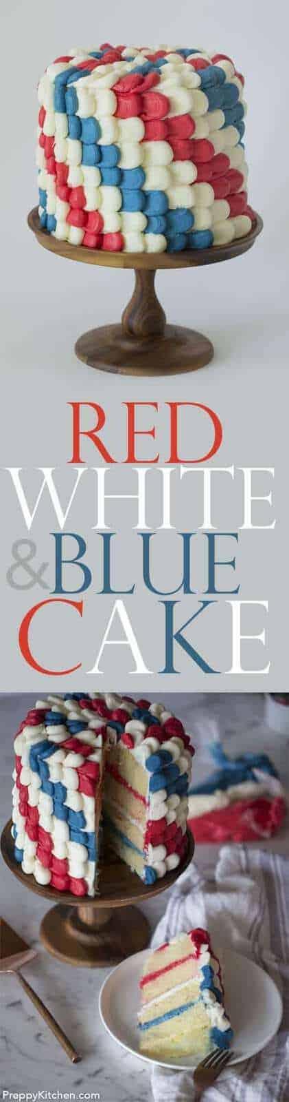 Red, White & Blue Cake