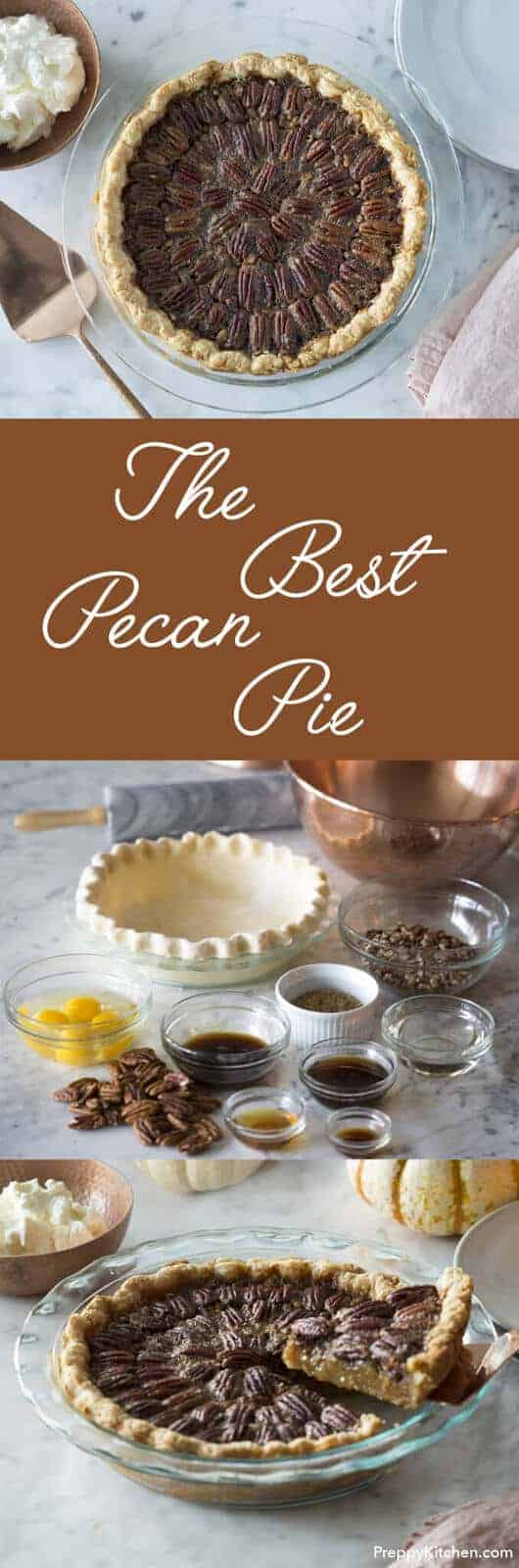 A flakey butter crust, pecans, maple syrup, honey, brown sugar and bourbon combine to make what I consider the perfect pecan pie.