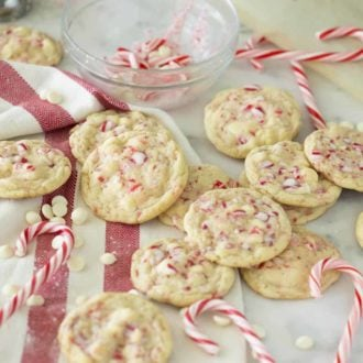 White Chocolate Peppermint Cookies