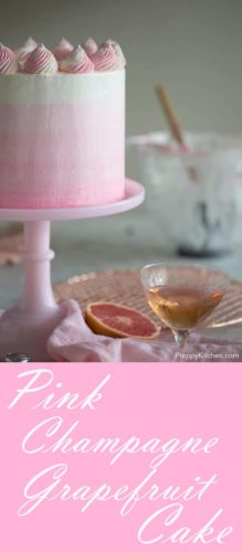 Pink Champagne Grapefruit Cake