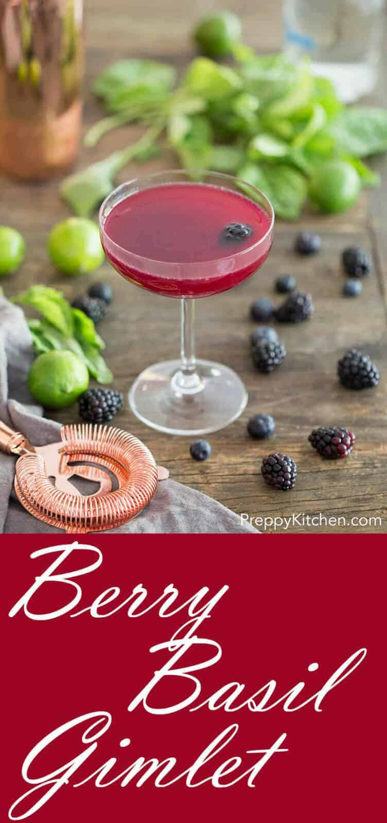 Berry simply syrup infused with fresh basil combines with key lime juice and vodka to make your new favorite cocktail.