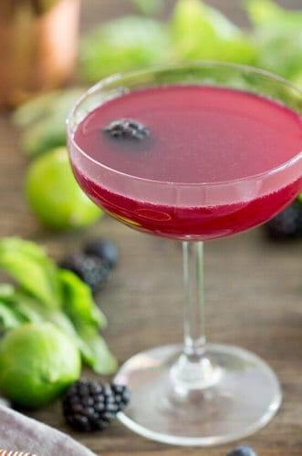 Berry Basil Gimlet