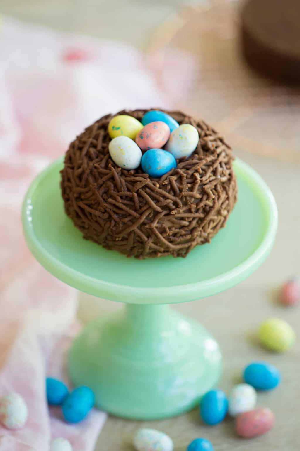 Easter Chocolate Cake Nest