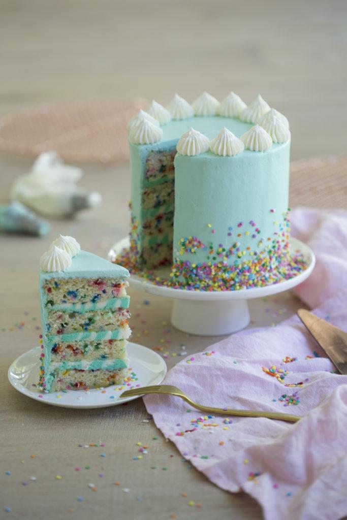 Two Layer Funfetti Cake