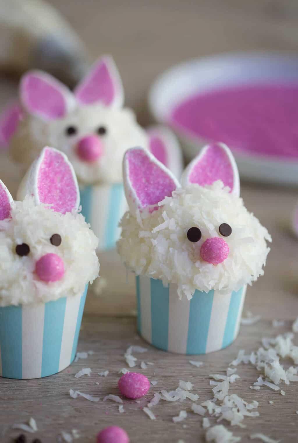 Bunny Cupcakes - Cute Easter Dessert Recipe