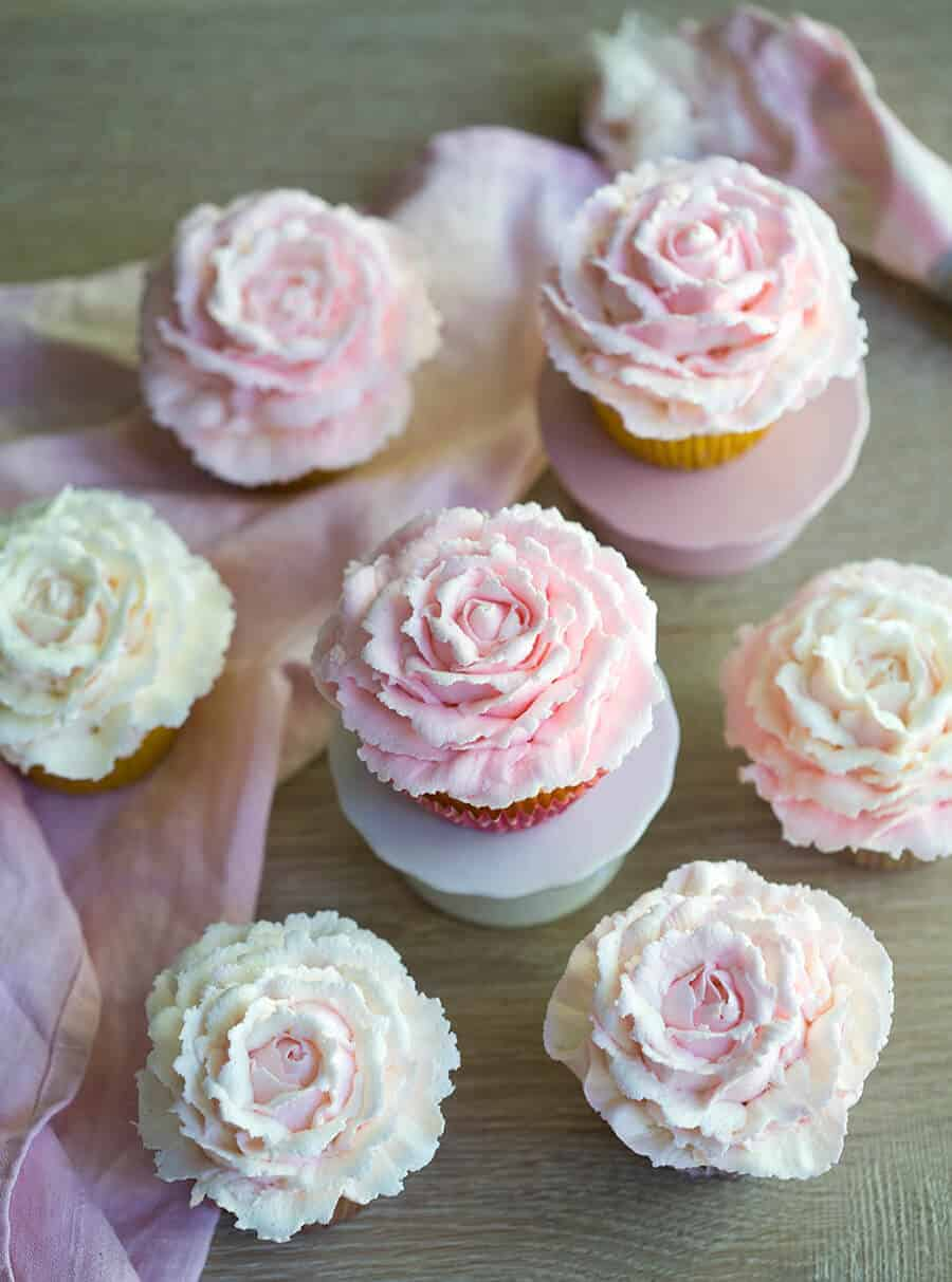 Rose Cupcakes Preppy Kitchen