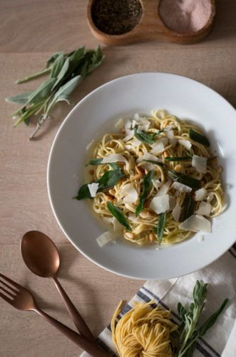 Pine Nut & Fried Sage Pasta