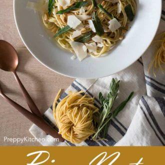 Pine Nut & Fried Sage Pasta