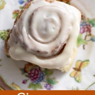 cinnamon roll on a plate