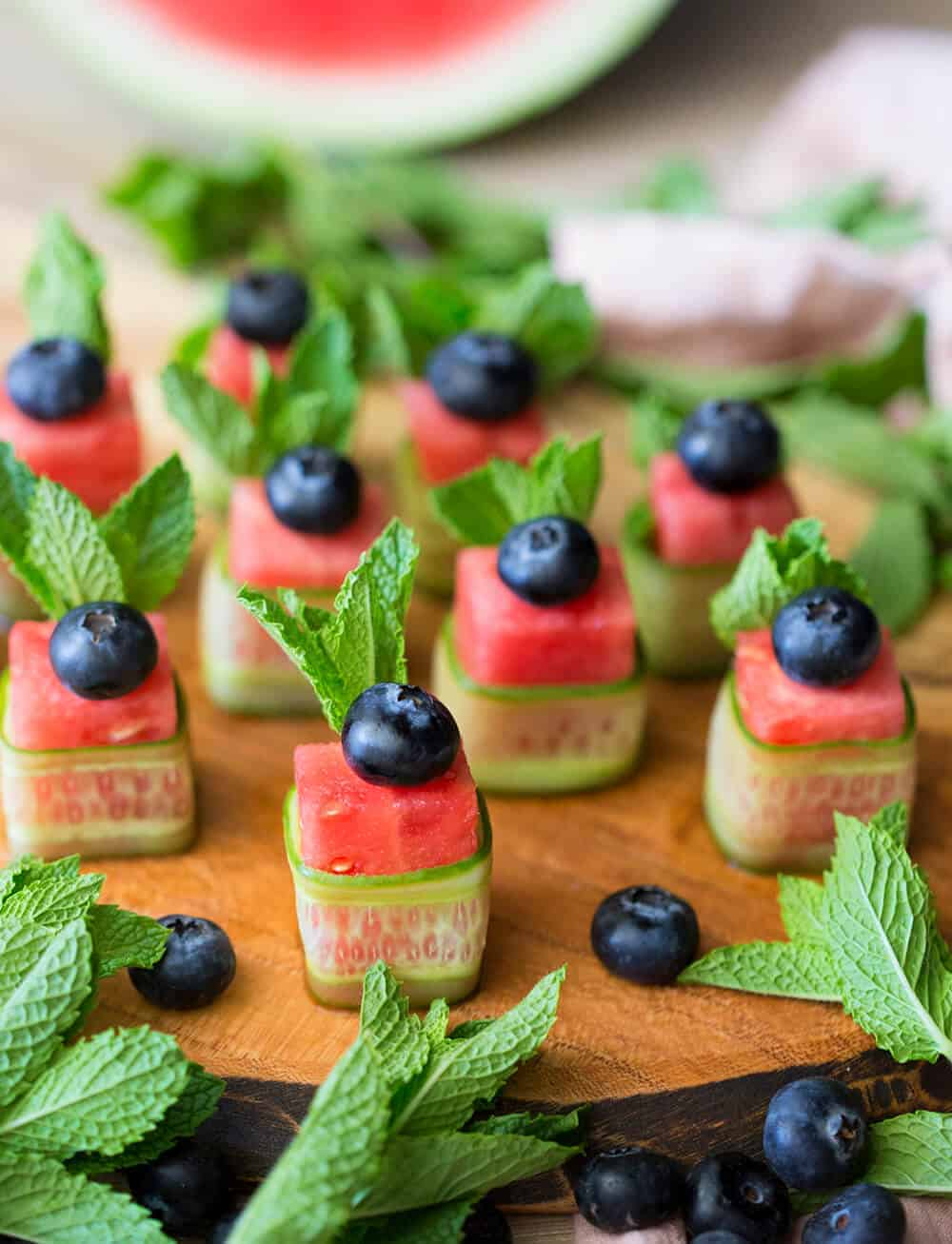 Watermelon Canapés Preppy Kitchen - Canapes