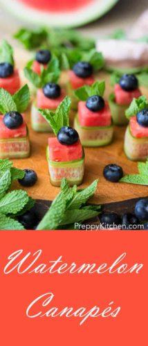 Watermelon Canapés