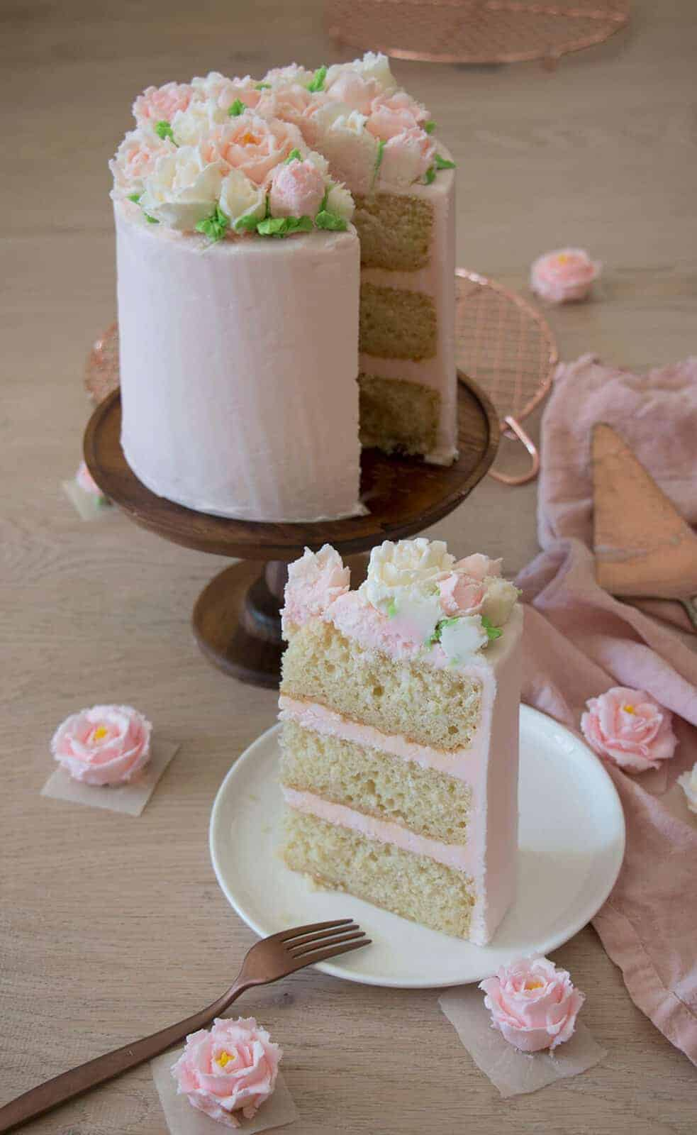 Buttercream rose cake preppy kitchen save mightylinksfo