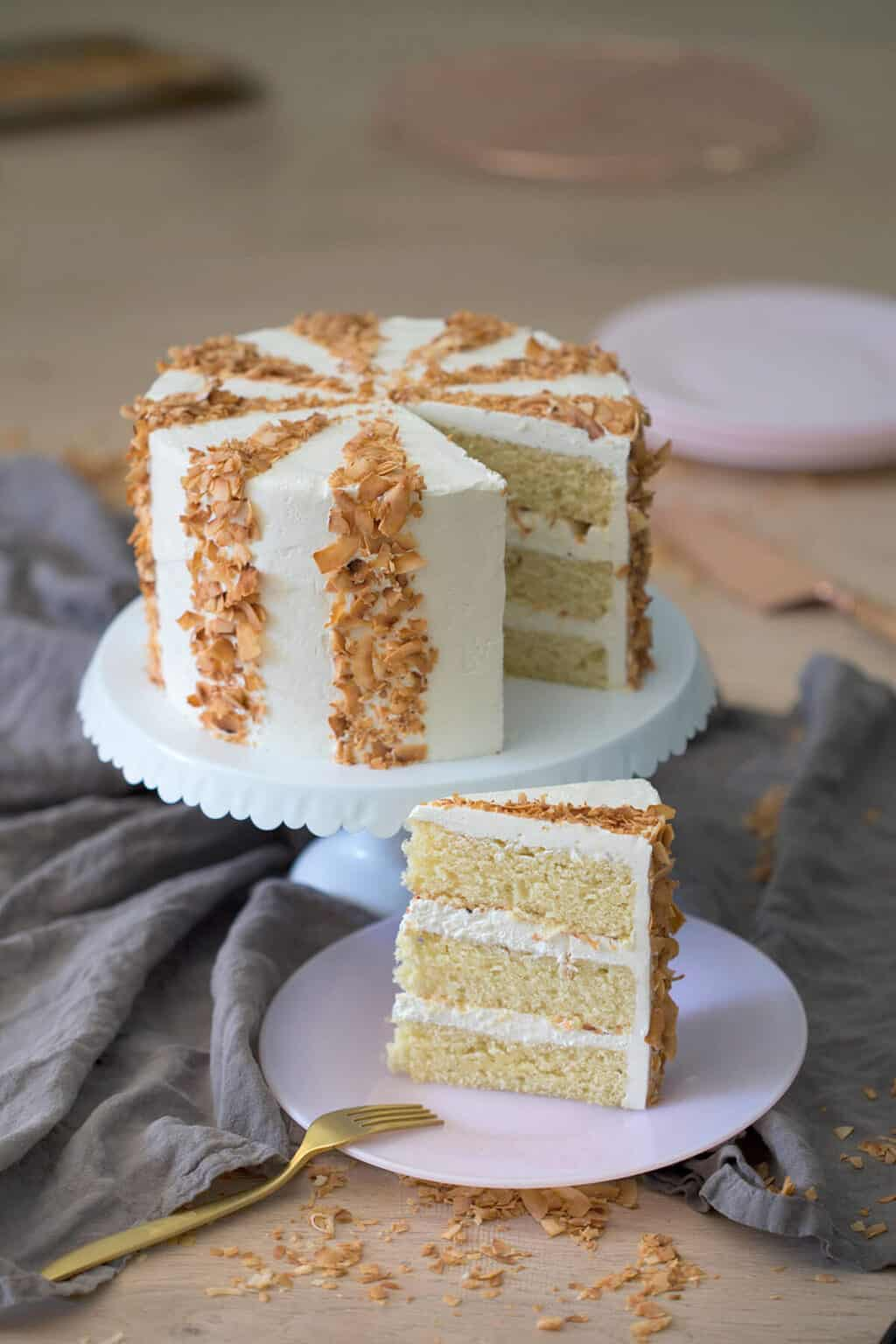 Easy White Chocolate Coconut Cake