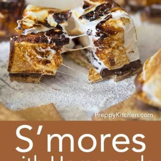 homemade smores pulled apart