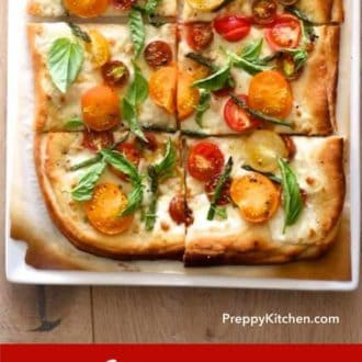 Heirloom Tomato White Pizza