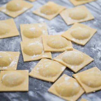 Artichoke Dip ravioli