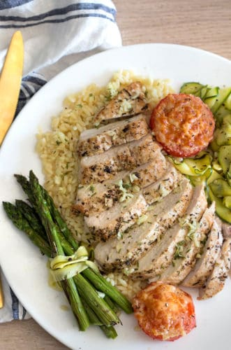 Chicken Breast with Garlic Wine Sauce
