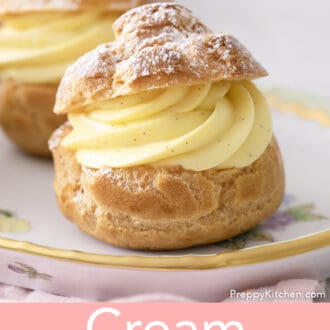 Two cream puffs
