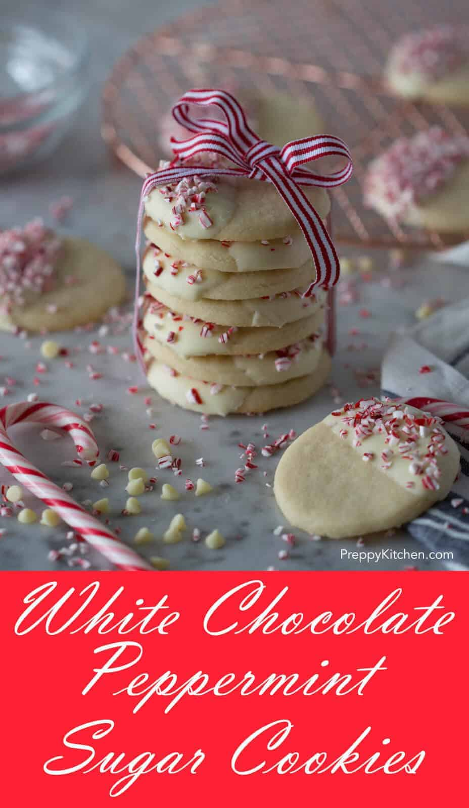 White Chocolate Peppermint Sugar Cookies