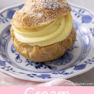 A delicious cream puff.