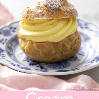 A vanilla cream puff