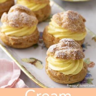 A group of cream puffs.