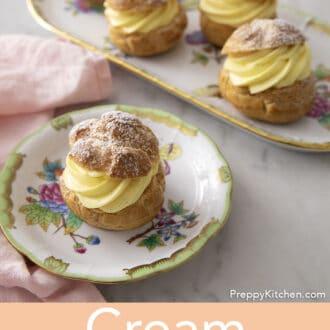 Five cream puffs.