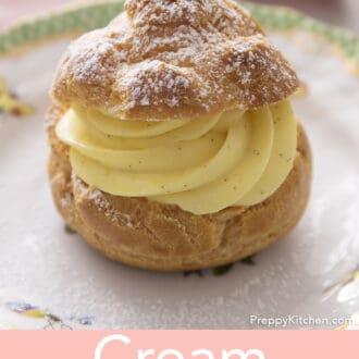 A vanilla cream puff.